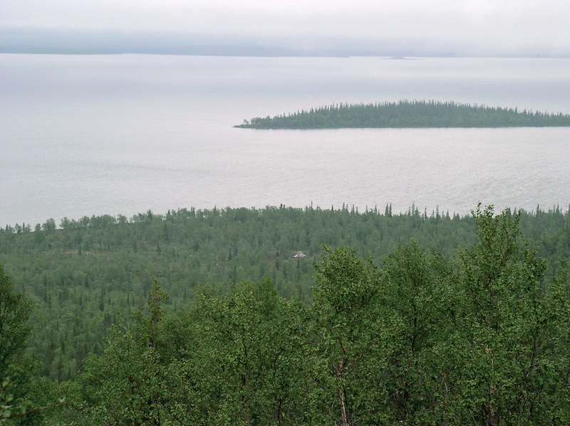 Lake Lovozero is a crucial food security and fisheries lake to the Kola Sámi people. Photo: Courtesy of the Snowchange Co-op, 2014