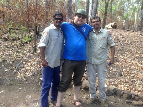 With the Yarrabah rangers. Victor Steffensen, 2014.