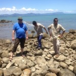 With the rangers on a thousands of years old fish trap on the Coral Sea. Victor Steffensen, 2014