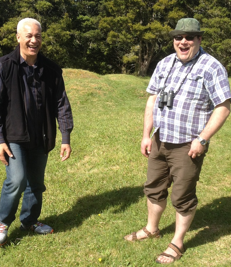 Apanui and Tero share a laugh in Rui-Peka-Peka. Darren King, 2014