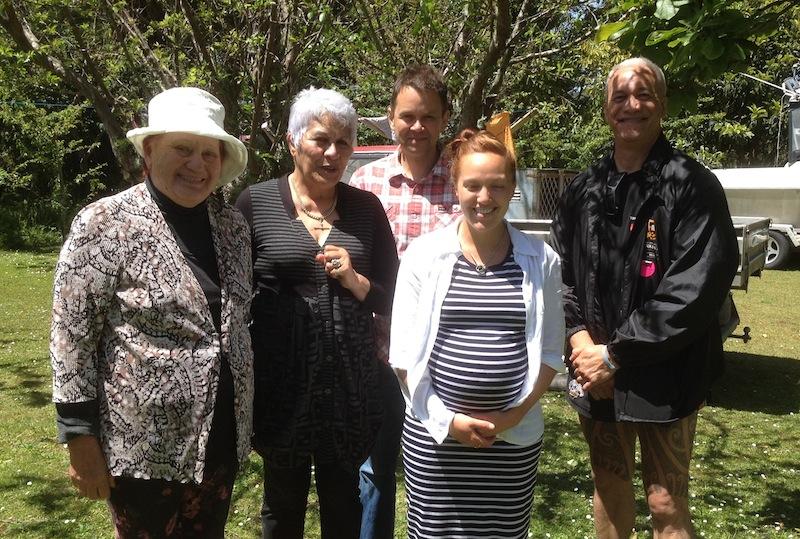 Two Elders, Darren, Wakaiti Dalton and Apanui Skipper during the community visit. Darren King, 2014