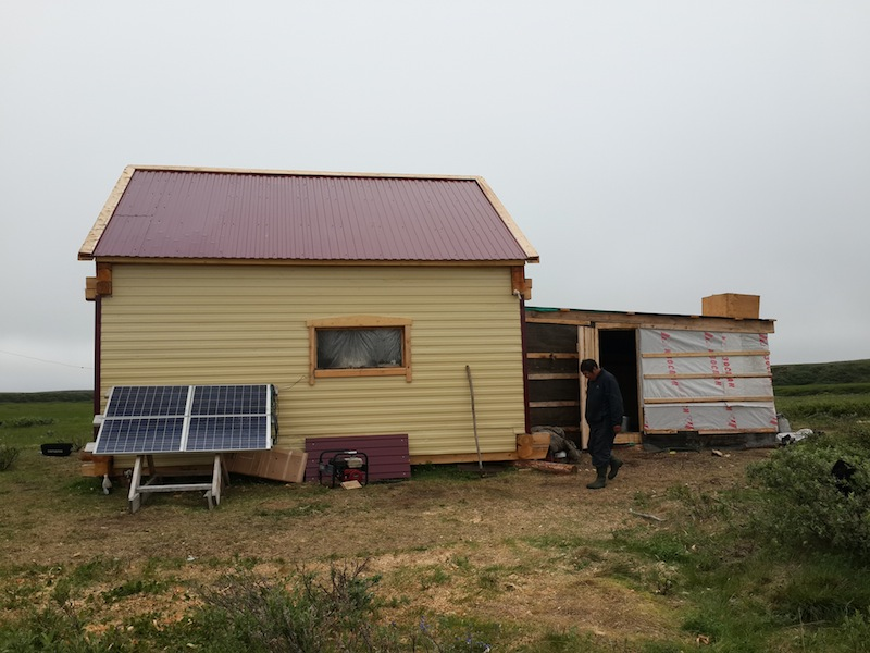 New Fish Base where panels have been installed is ready and in use, August 2014. Snowchange, 2014