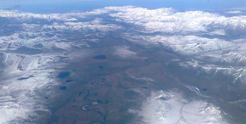Cherskii range, Northern Yakutia. Snowchange, 2014.