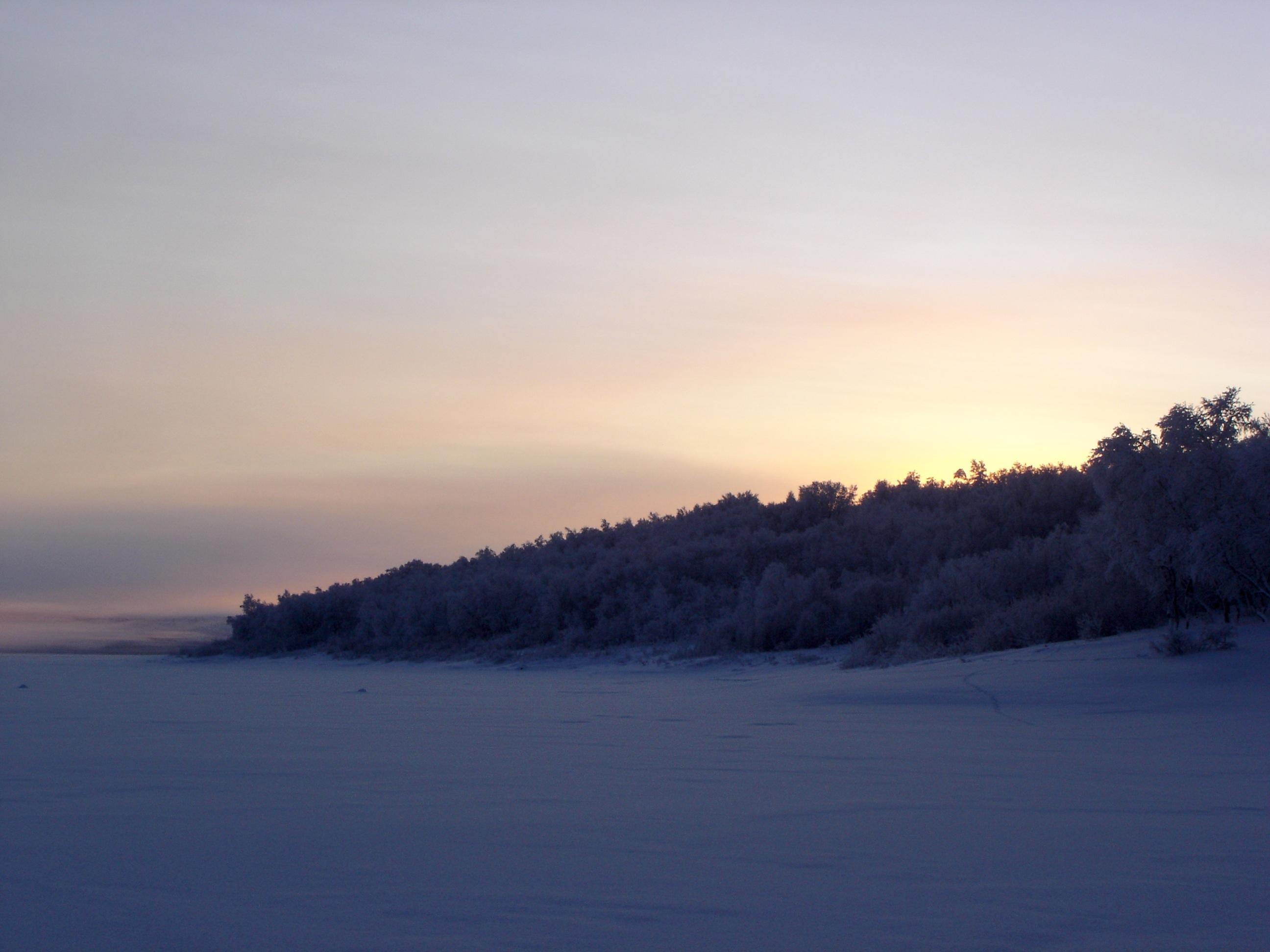 A view of lake Pulmanki in the Utsjoki region, Finland, January, 2007. Snowchange, 2015