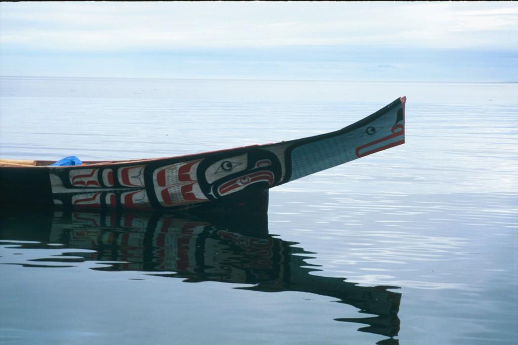 Kwakwakwala Canoe in BC, 2002.