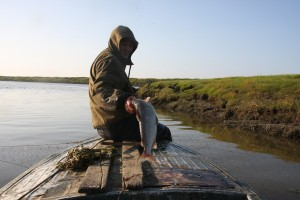 Fisherman Vilen in the Kolyma region, 2012.