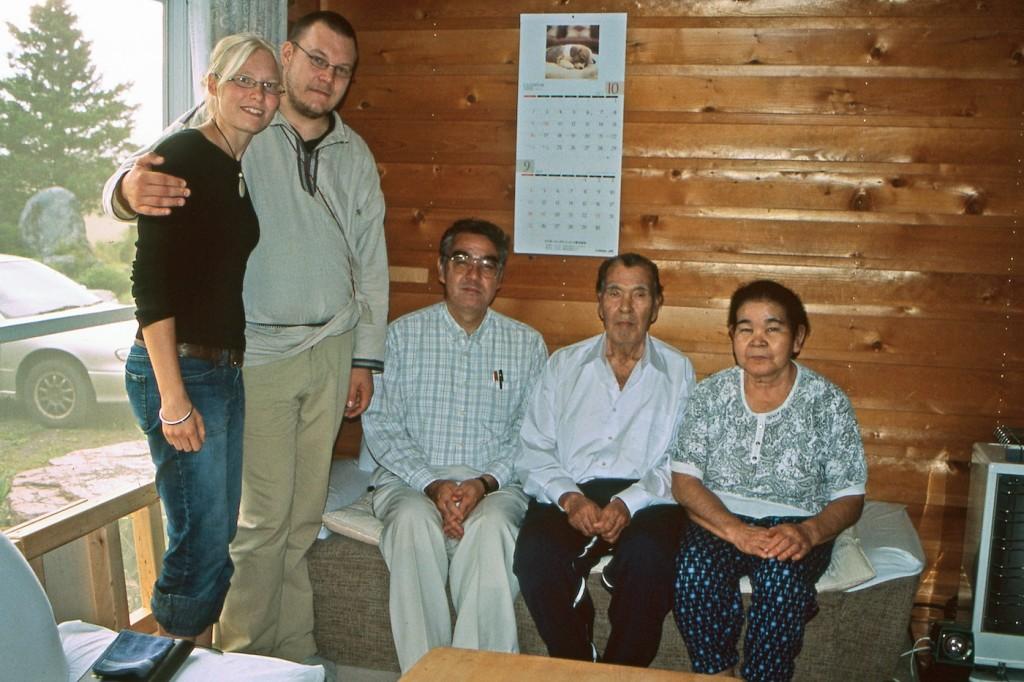 Kayano family with Tero and Kaisu Mustonen, September 2005.