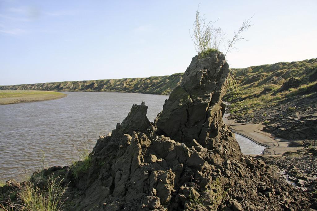 Melting permafrost in Siberia. Snowchange, 2012
