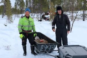 Juha and Risto, restoring Vainosjoki in Skolt Saami area.