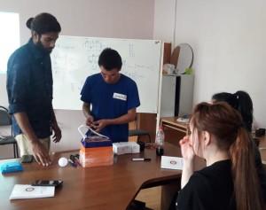 Abin training the local delegates.