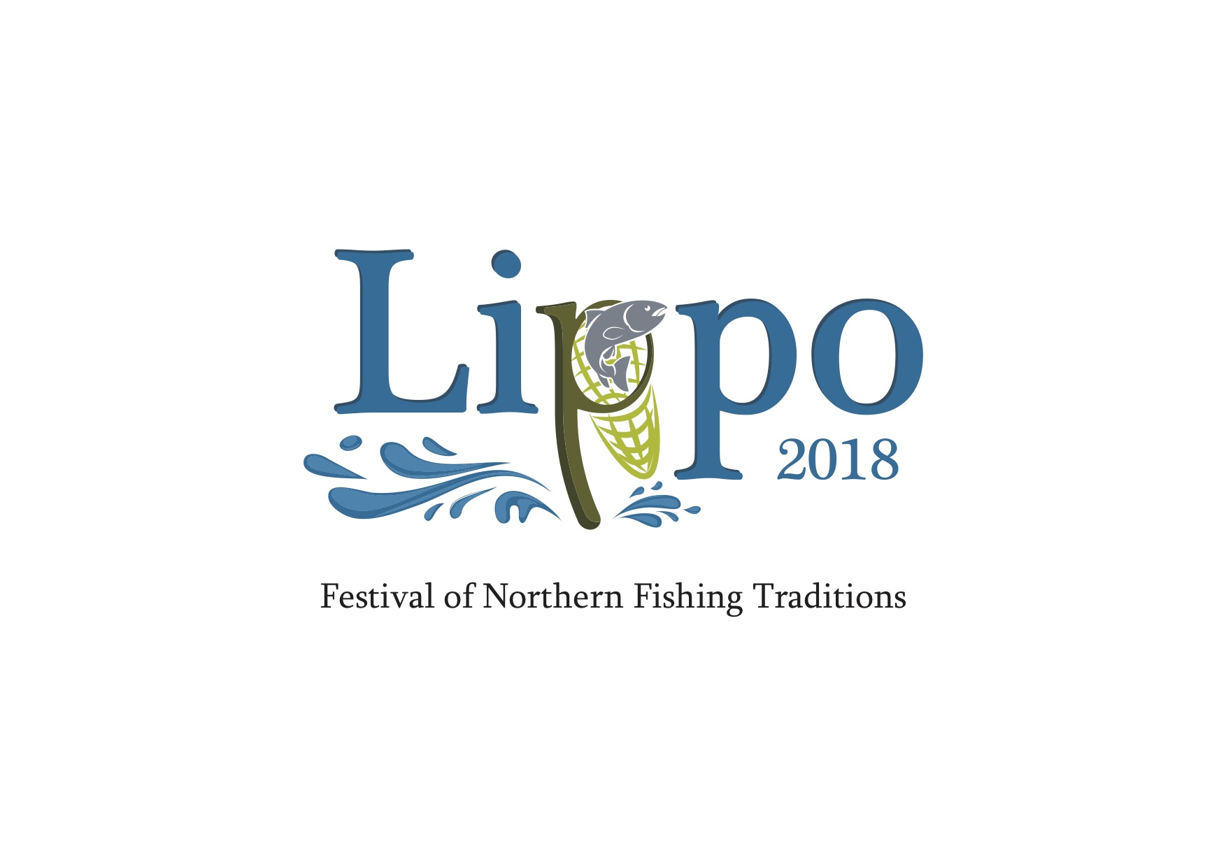 Lippo - Festival of Northern Fishing Traditions logo vertical with slogan