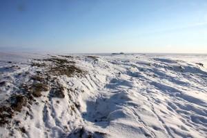 Nomadic camp on tundra in Kolyma