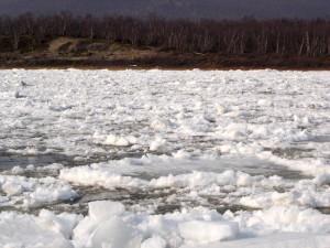 Teno ice break-op, April 2006.