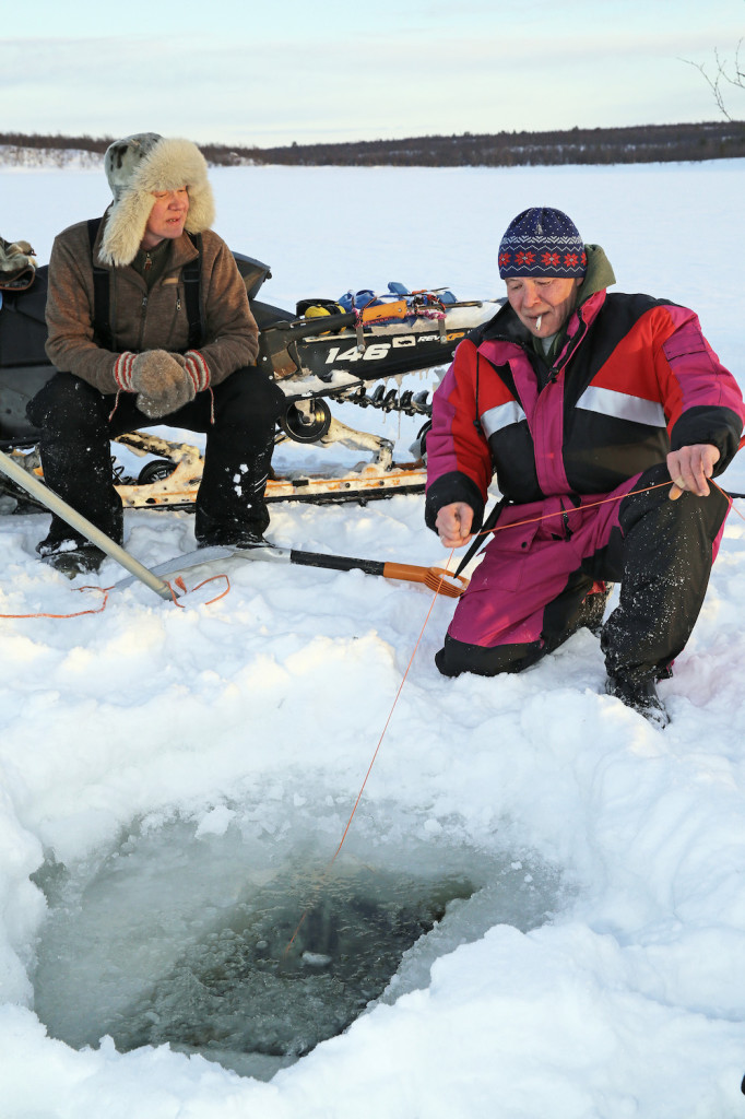 Jouko Moshnikoff (left) and Teijo fishing, 2014. Photo: Gleb Raygorodetsky