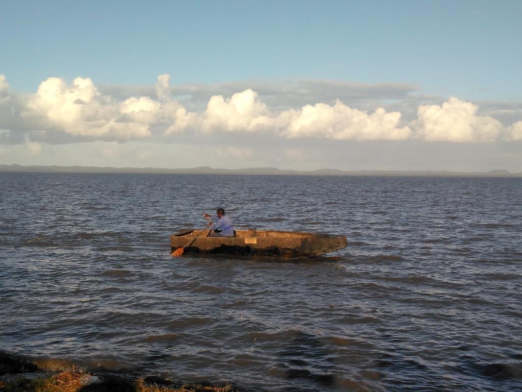 Nibela fisherman on lake St. Lucia