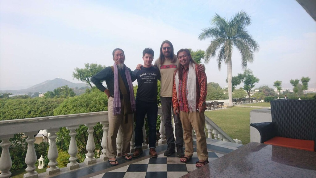 Hugu, Antoine and Curtis with ICCA president Teddy, in Udaipur, India.