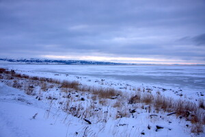 Looking towards Norton Sound from Unalakleet, November 2008, Snowchange