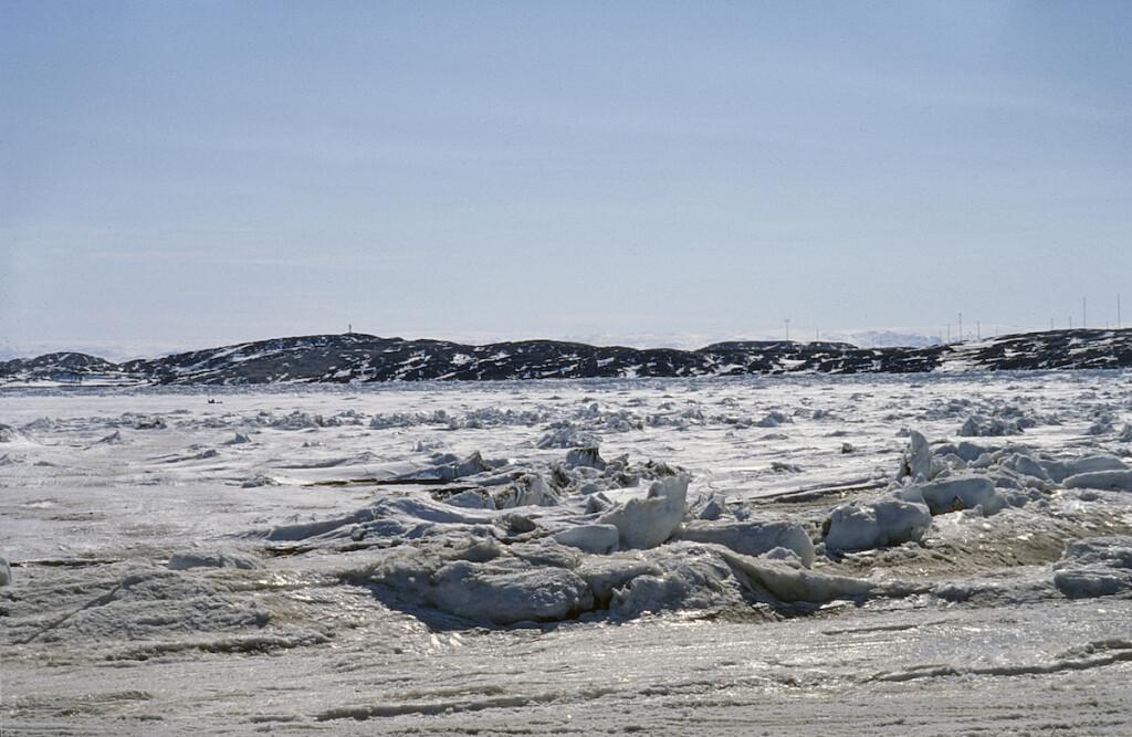 Sea ice off Iqaluit, Nunavut.