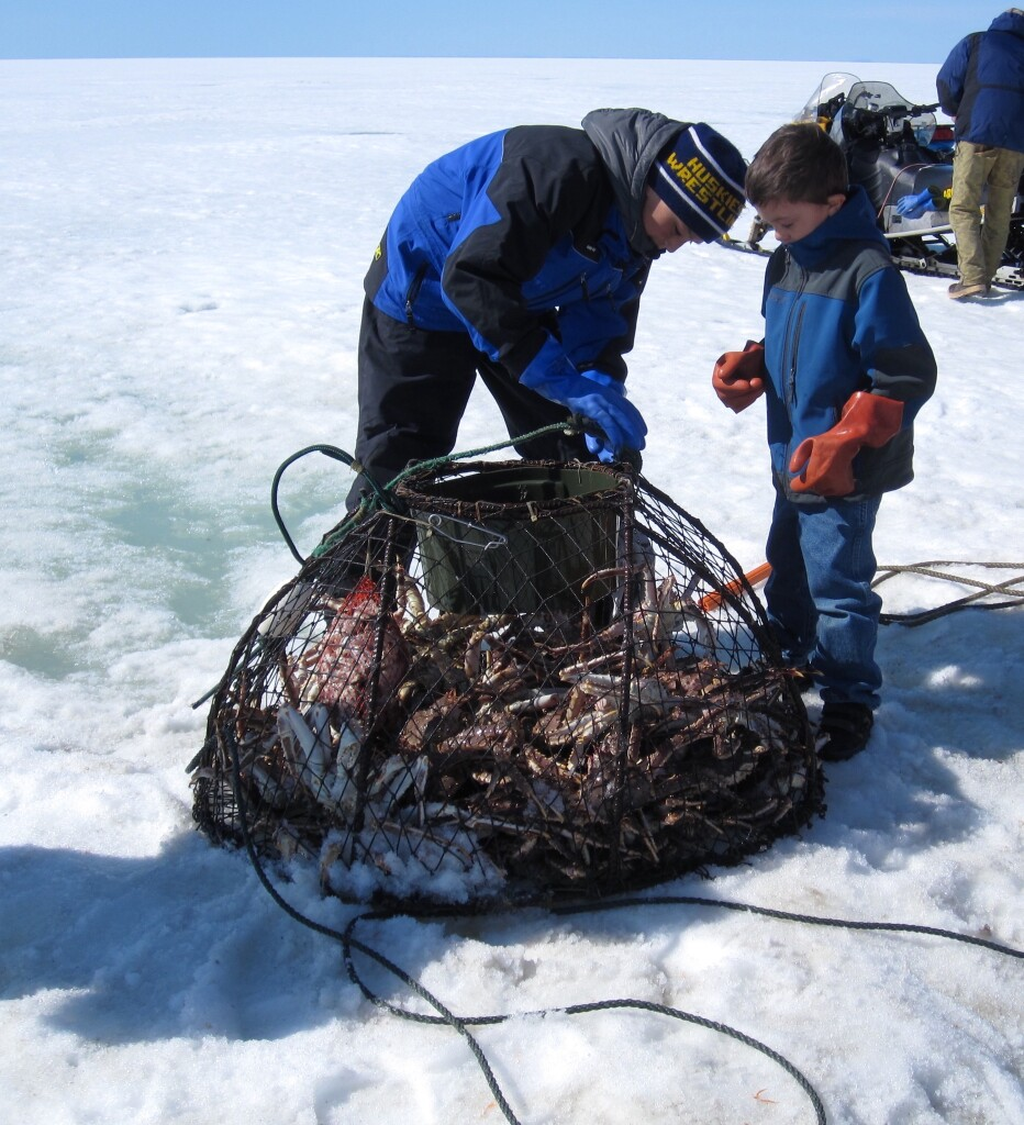 Inupiaq crabbing in Western Alaska